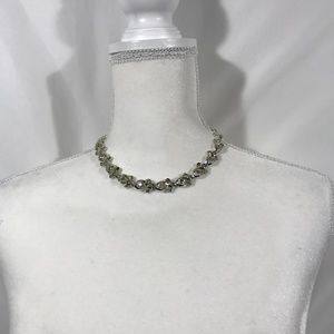 SILVER TONE COSTUME JEWELRY NECKLACE 14""